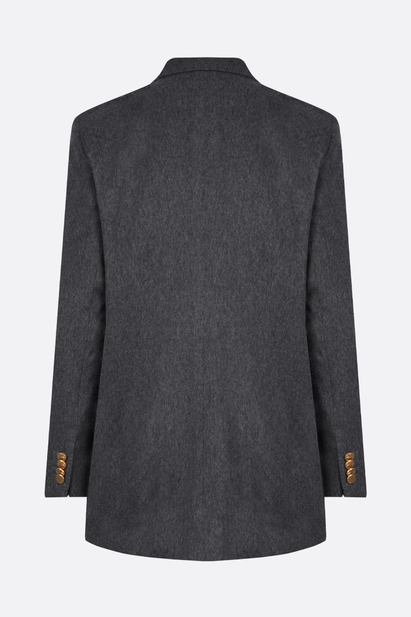 TAGLIATORE: Jasmine cashmere double-breasted jacket Color Grey_2