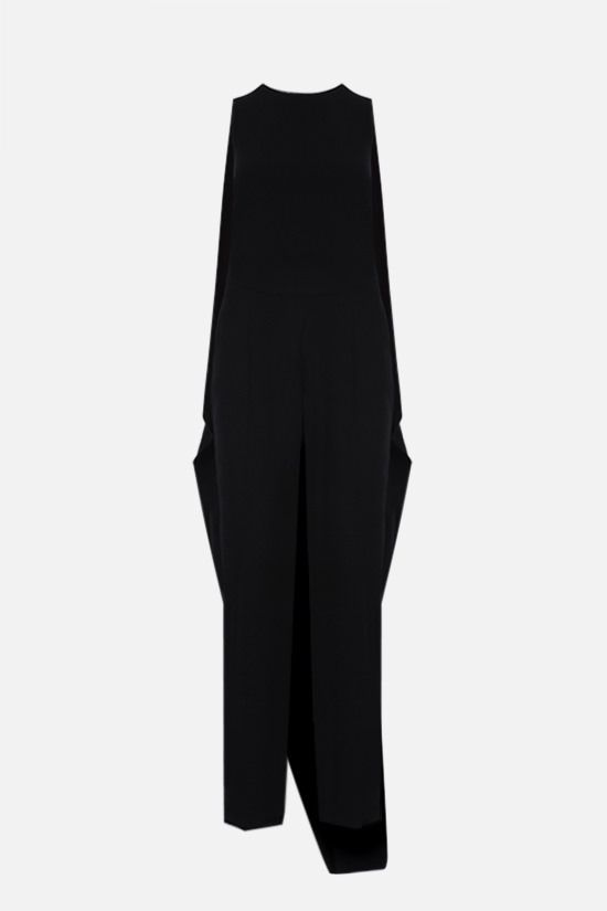 AGNONA: wavy panel crepe jumpsuit Color Black_1