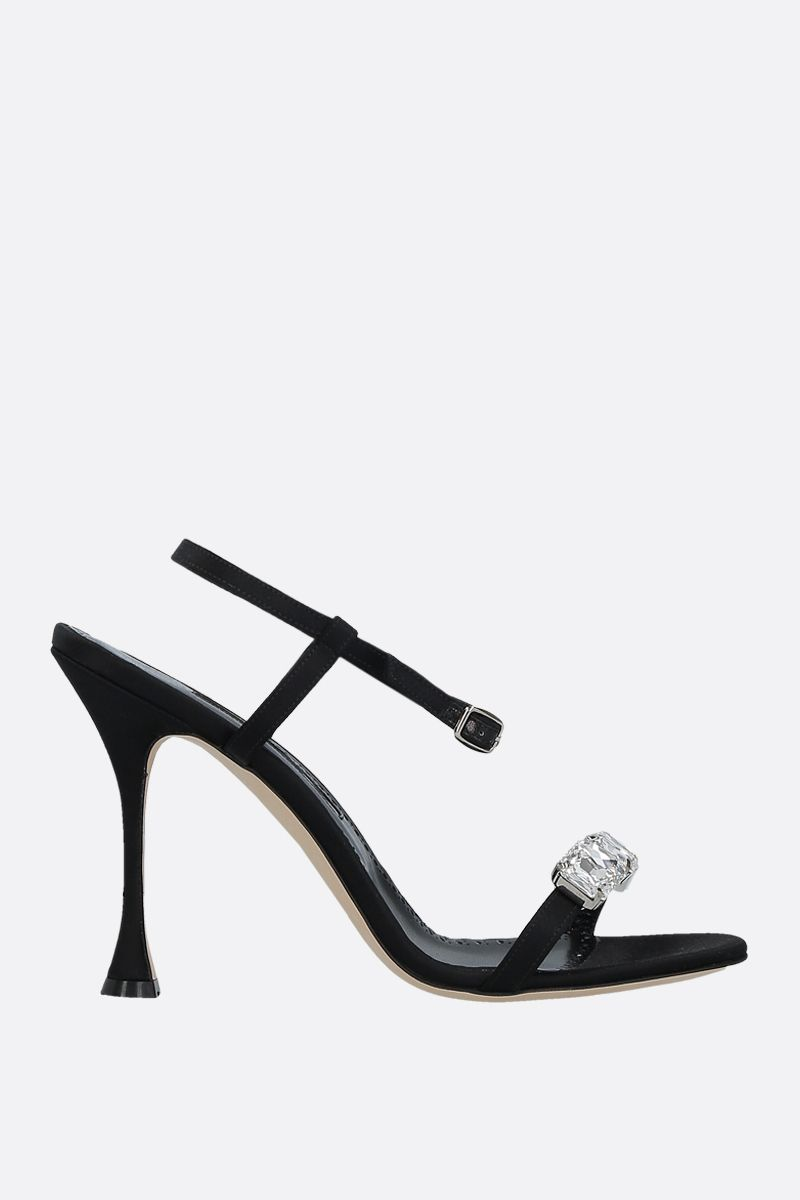 MANOLO BLAHNIK: Nafud satin sandals Color Black_1
