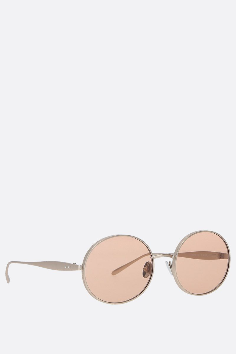 ALAIA: oval-frame metal sunglasses Color Neutral_2