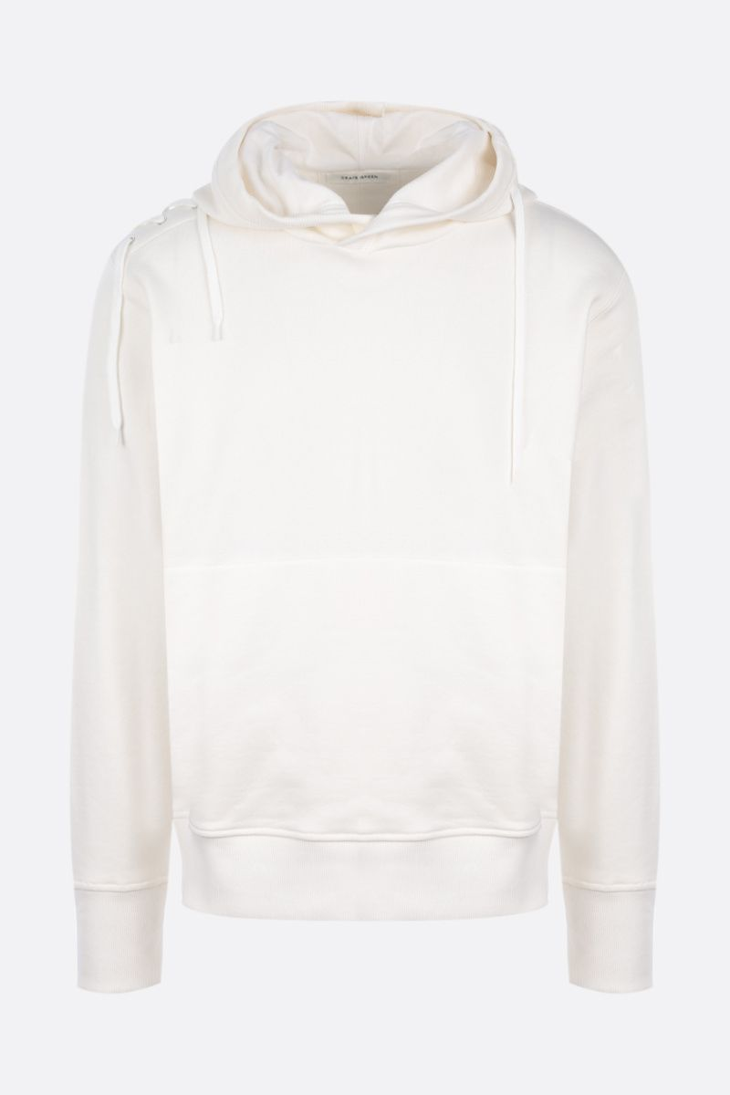 CRAIG GREEN: lace-detailed cotton hoodie_1