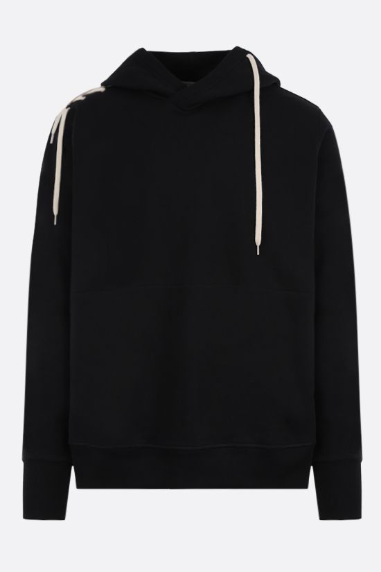 CRAIG GREEN: lace-embellished cotton hoodie Color Black_1