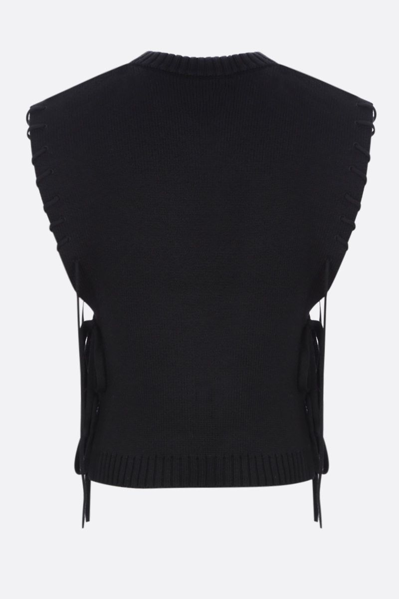 CRAIG GREEN: lace-detailed sleeveless pullover Color Black_2