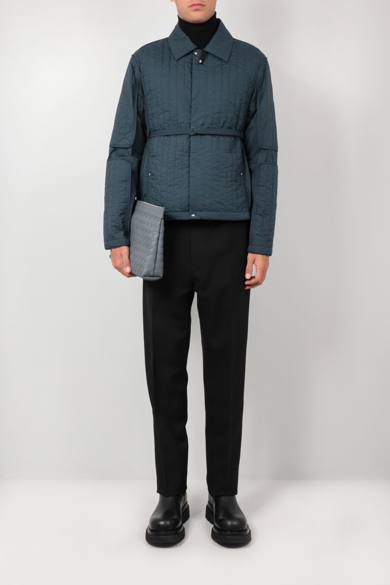 CRAIG GREEN: quilted nylon overshirt Color Blue_2