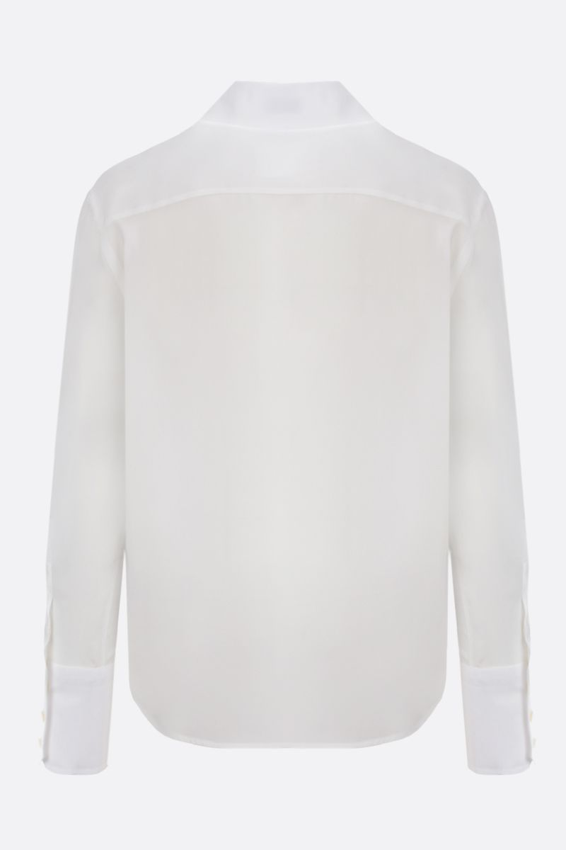 SAINT LAURENT: camicia classica in crepe de chine_2
