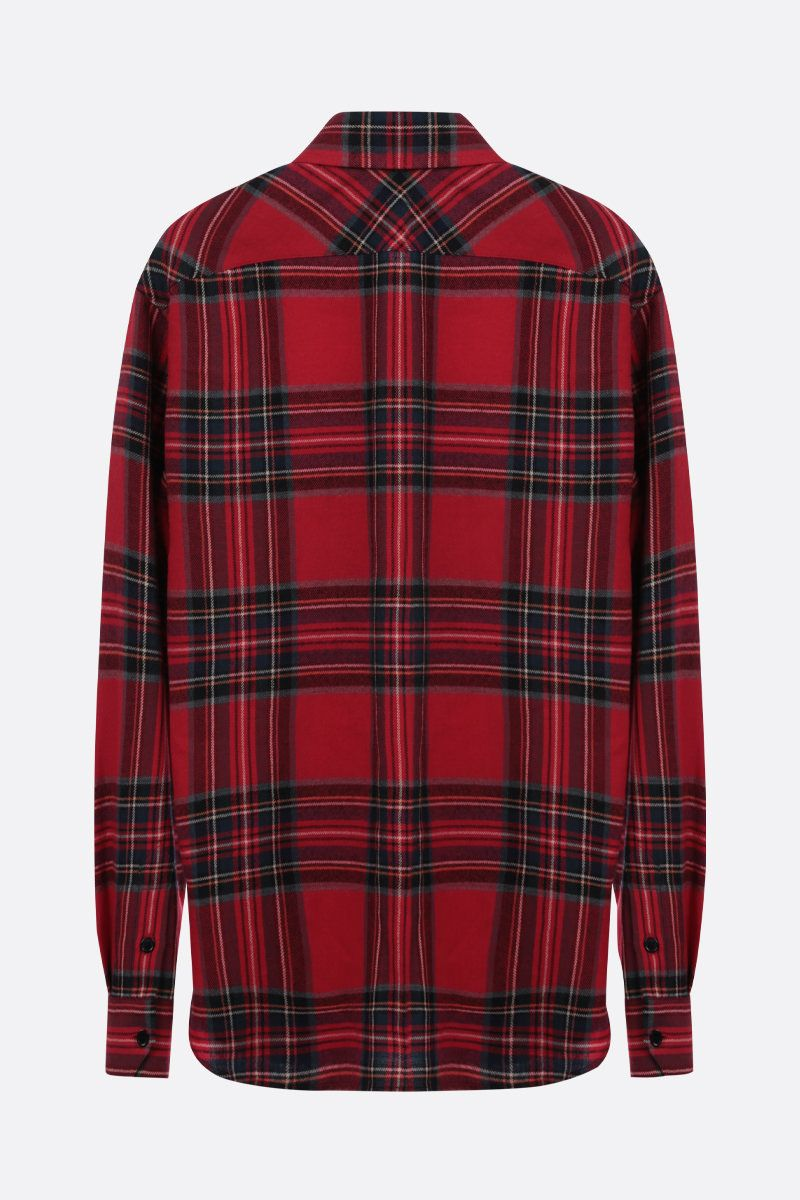 SAINT LAURENT: check flannel shirt Color Red_2