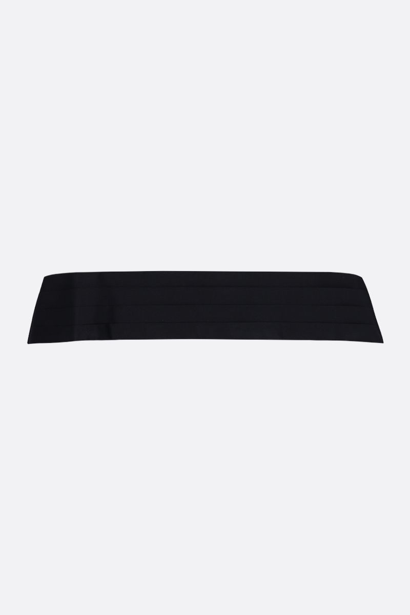 SAINT LAURENT: tuxedo cummerbund in silk satin Color Black_2