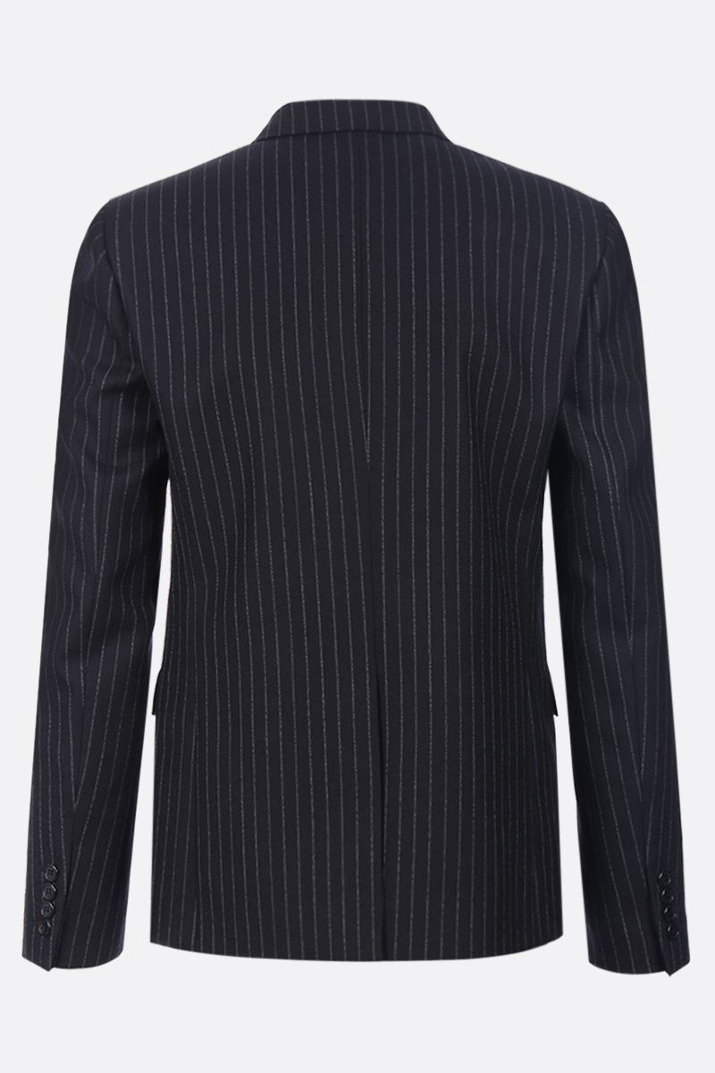 SAINT LAURENT: pinstripe wool double-breasted blazer Color Black_2