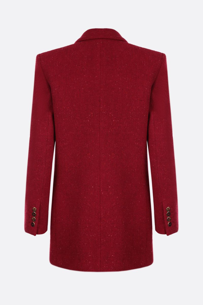 SAINT LAURENT: wool bouclè double-breasted jacket Color Red_2