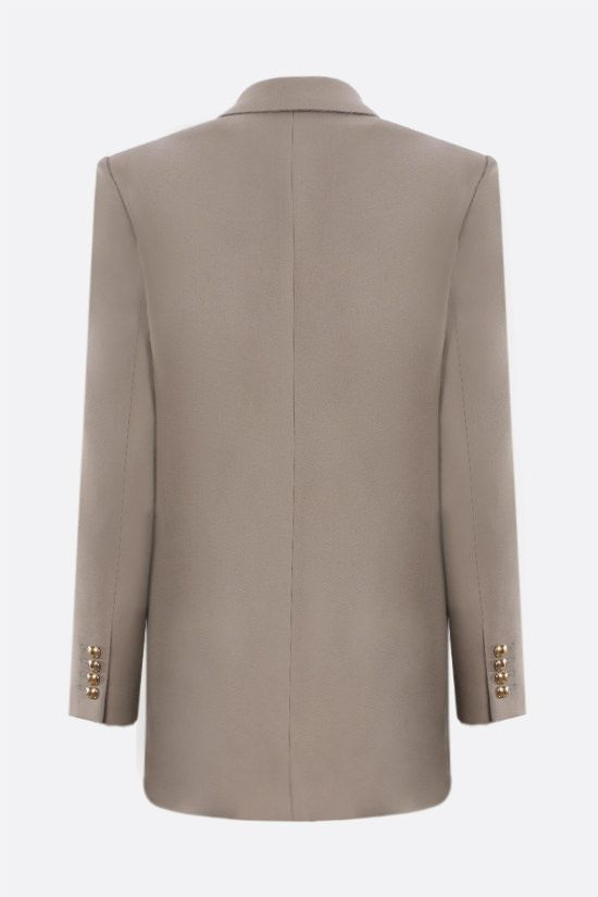 SAINT LAURENT: double-breasted wool gabardine jacket Color Brown_2