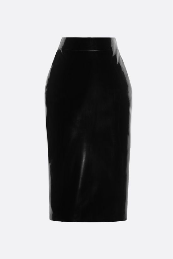 SAINT LAURENT: latex pencil skirt Color Black_1