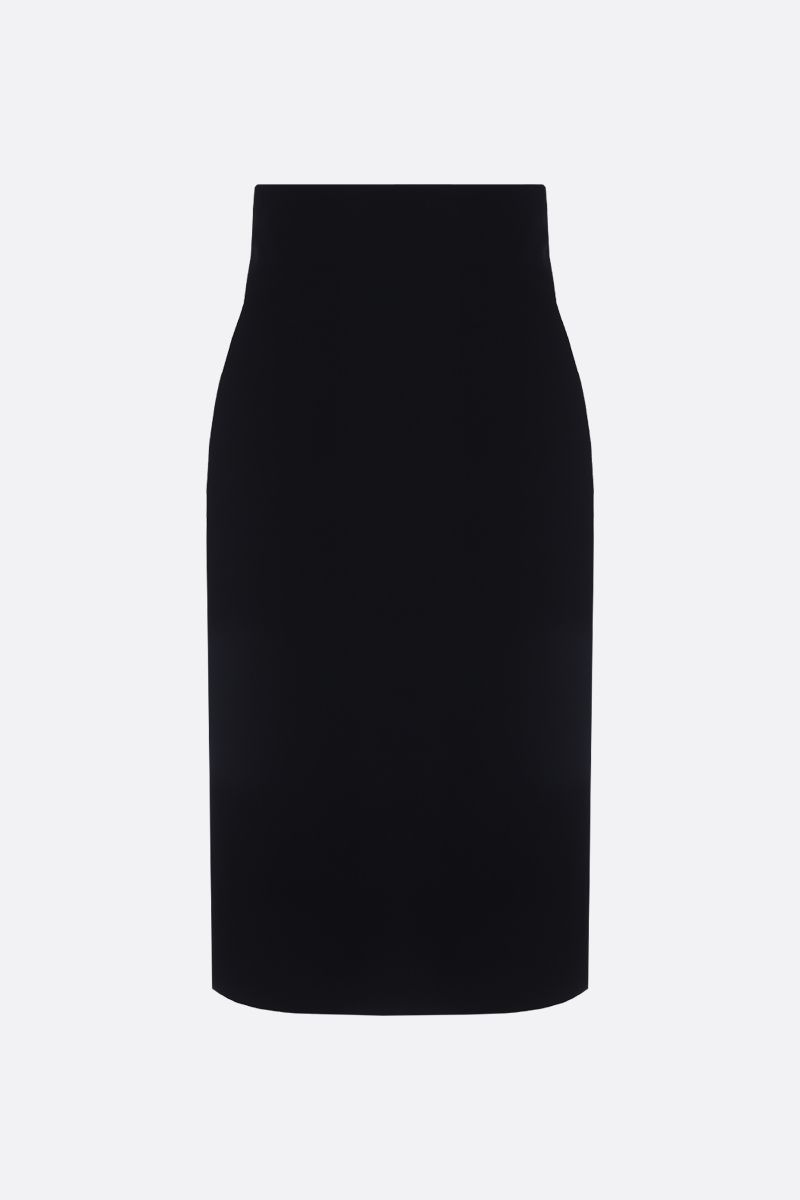 SAINT LAURENT: velvet pencil skirt Color Black_1
