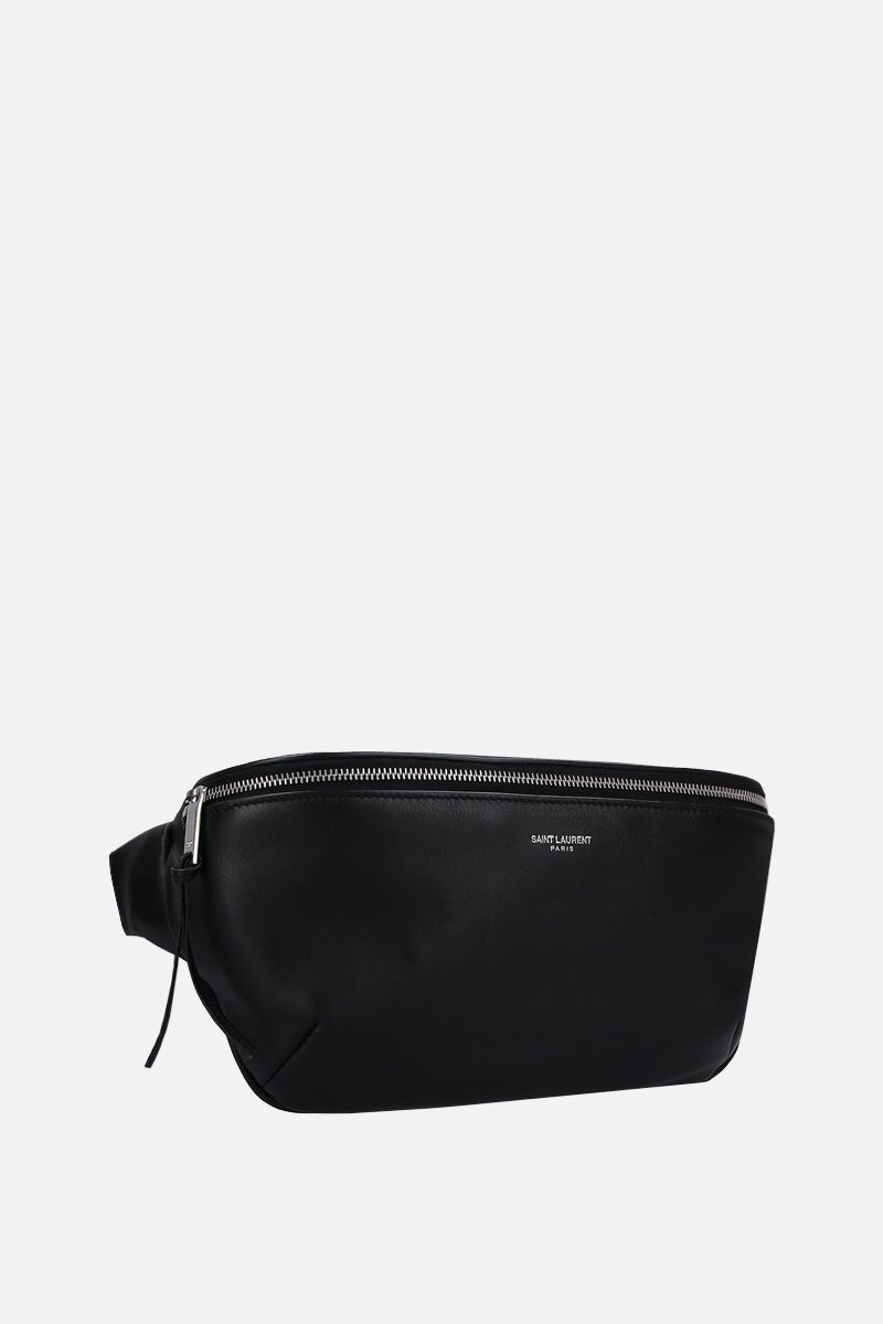 SAINT LAURENT: soft leather belt bag Color Black_2