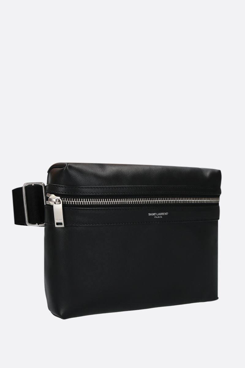 SAINT LAURENT: City smooth leather camera bag Color Black_2