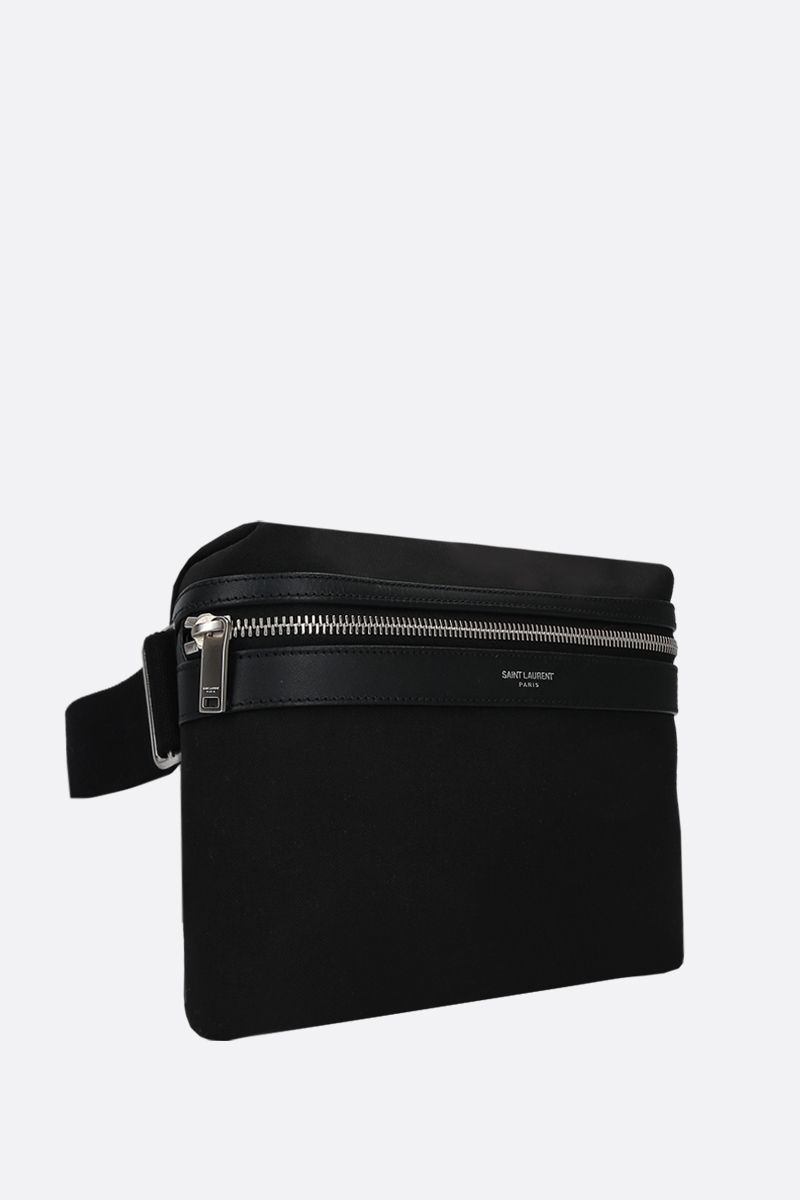 SAINT LAURENT: marsupio City in nylon Colore Nero_2