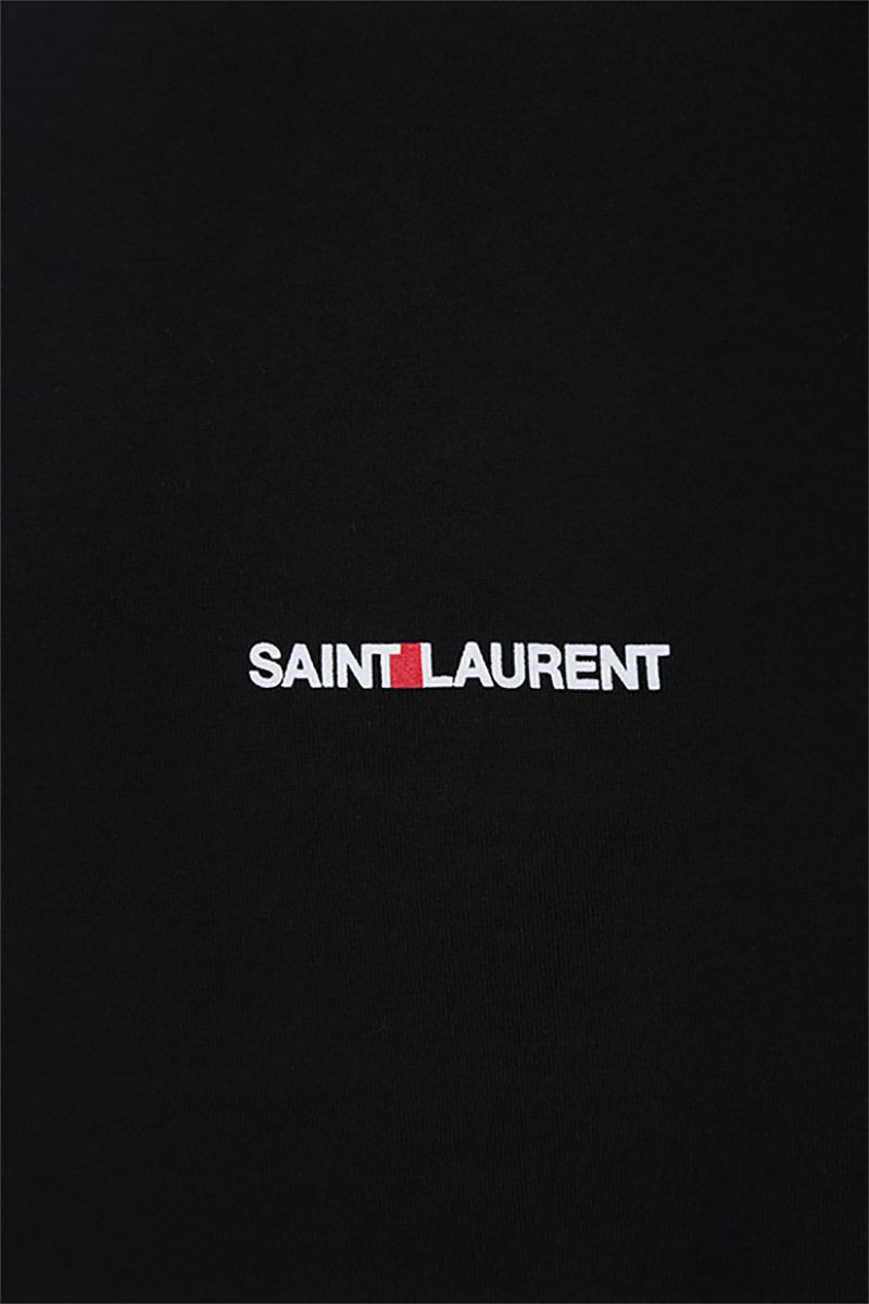 SAINT LAURENT: Saint Laurent print cotton t-shirt Color Black_4