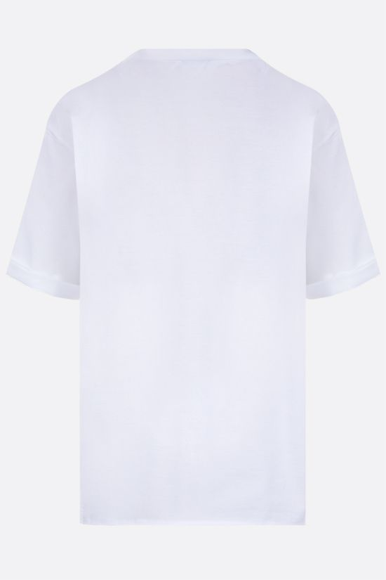 SAINT LAURENT: Saint Laurent print cotton t-shirt Color White_2