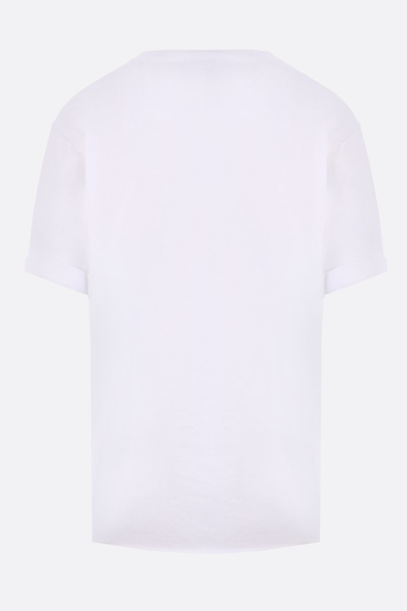SAINT LAURENT: t-shirt in cotone stampa Saint Laurent Colore Bianco_2