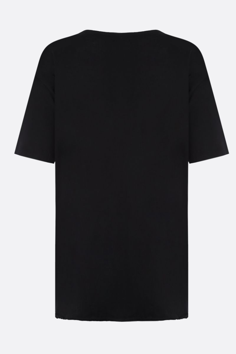 SAINT LAURENT: Saint Laurent Signature cotton t-shirt Color Black_2