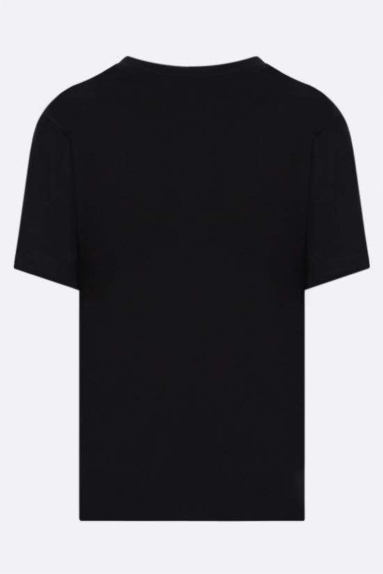 SAINT LAURENT: basic cotton t-shirt Color Black_2
