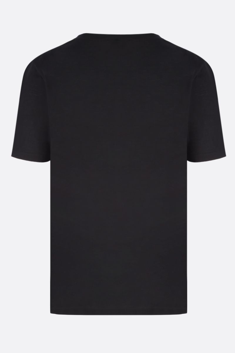SAINT LAURENT: SL motif cotton jacquard t-shirt Color Black_2