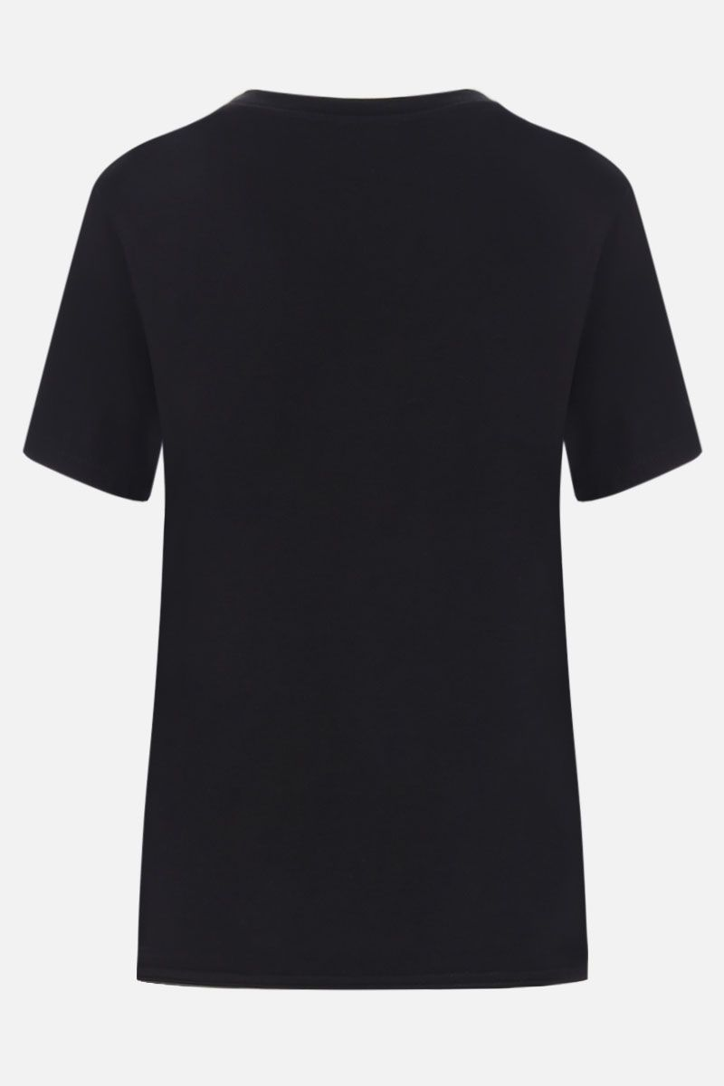 SAINT LAURENT: Palm print cotton oversized t-shirt Color Black_2