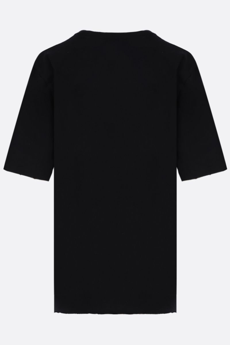 SAINT LAURENT: graphic print cotton t-shirt Color Black_2