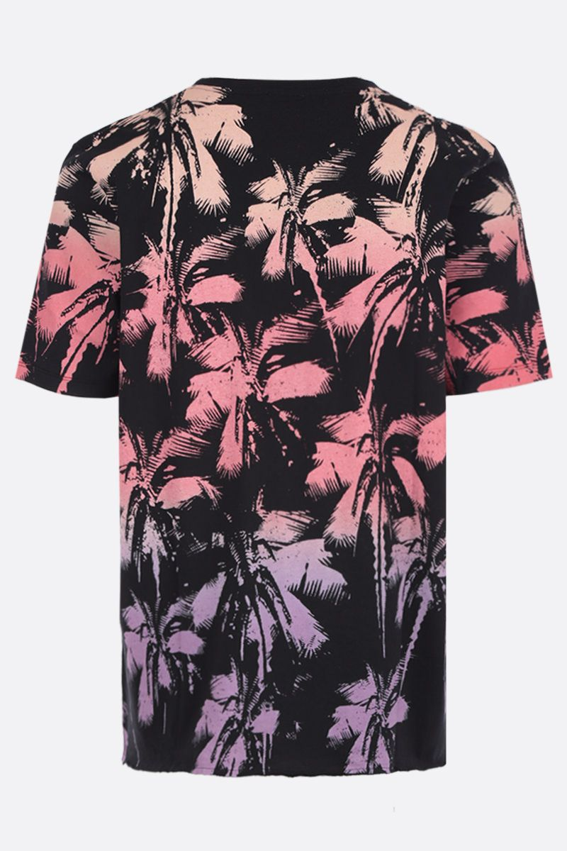 SAINT LAURENT: Palm Dip Dye print jersey t-shirt Color Multicolor_2