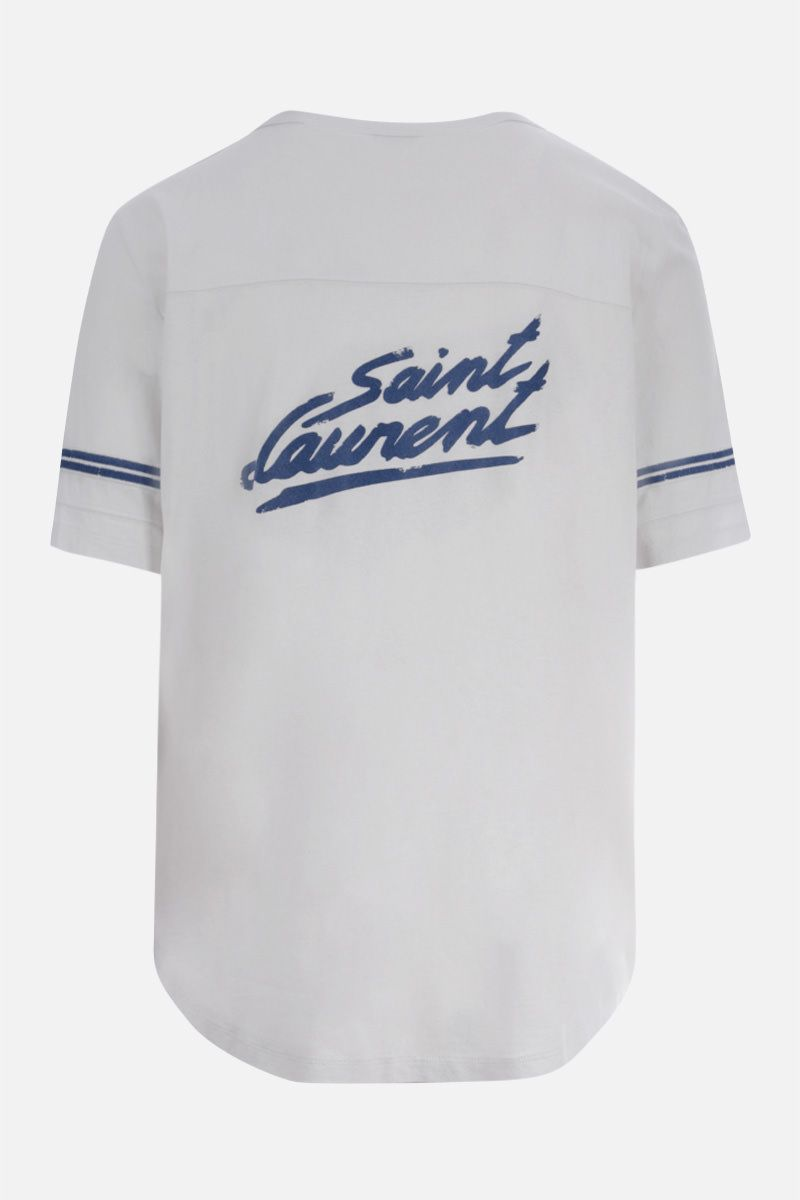 SAINT LAURENT: t-shirt in cotone stampa Saint Laurent Colore Multicolore_2