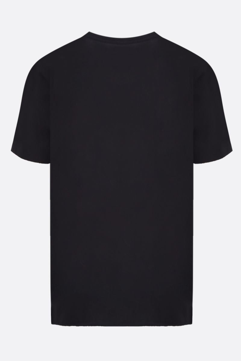 SAINT LAURENT: Saint Laurent print cotton t-shirt Color Black_2