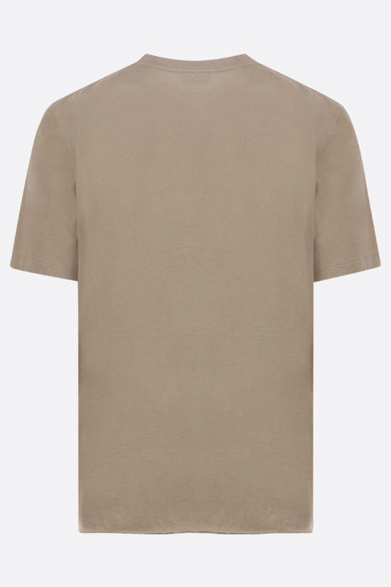 SAINT LAURENT: logo print cotton t-shirt Color Neutral_2