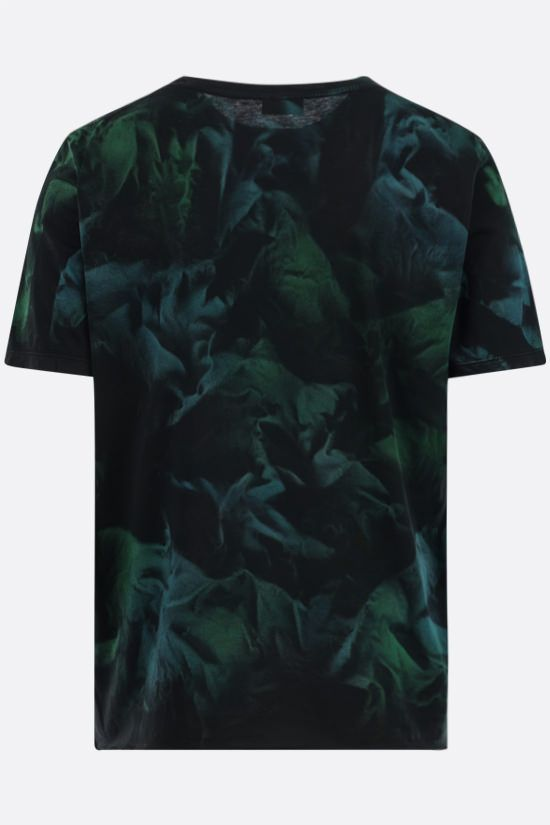 SAINT LAURENT: tie-dye cotton t-shirt Color Black_2
