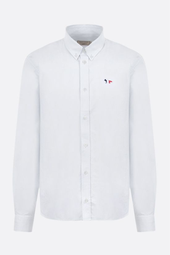 MAISON KITSUNÈ: Tricolor Fox patch cotton shirt Color White_1