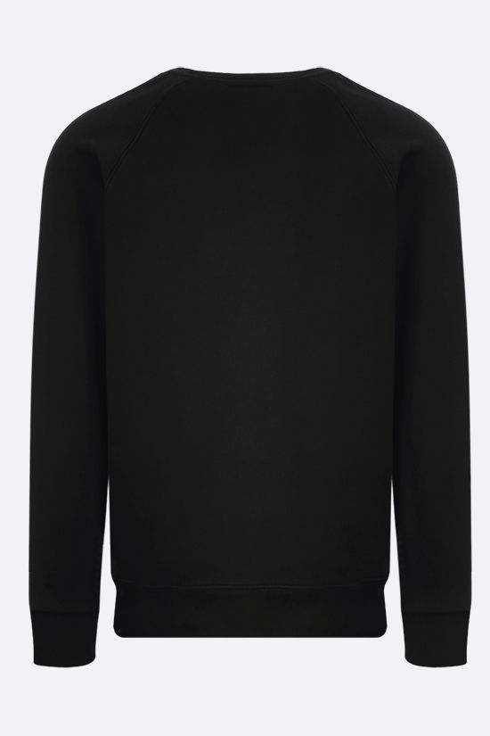 MAISON KITSUNÈ: Fox Head patch cotton sweatshirt Color Black_2