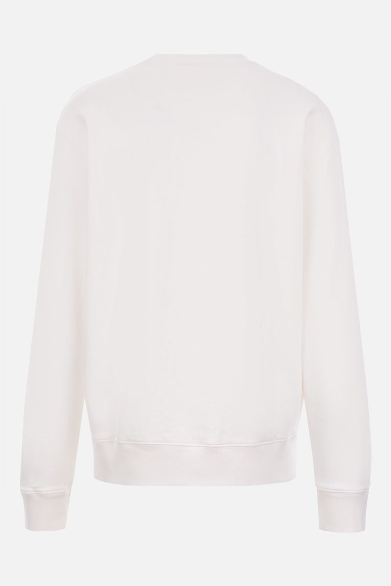 MAISON KITSUNÈ: Maison Kitsunè Hologram cotton sweatshirt Color White_2