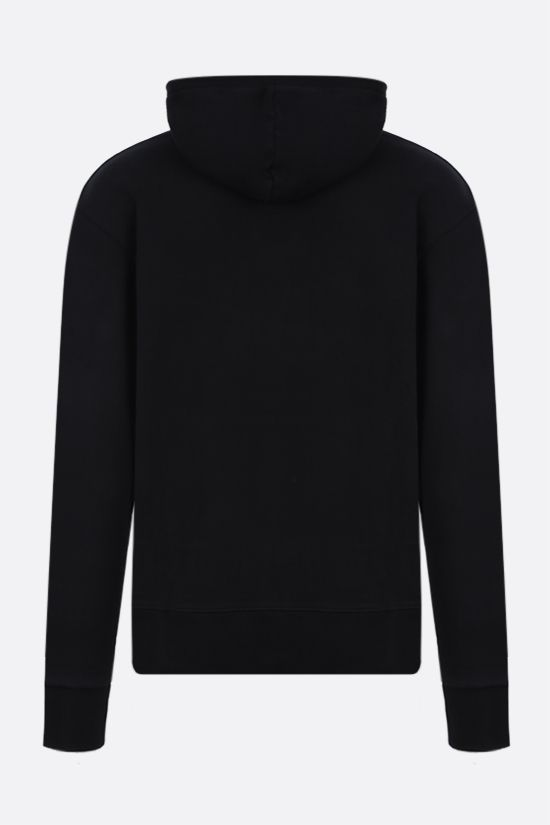 MAISON KITSUNÈ: Fox HEad patch cotton hoodie Color Black_2