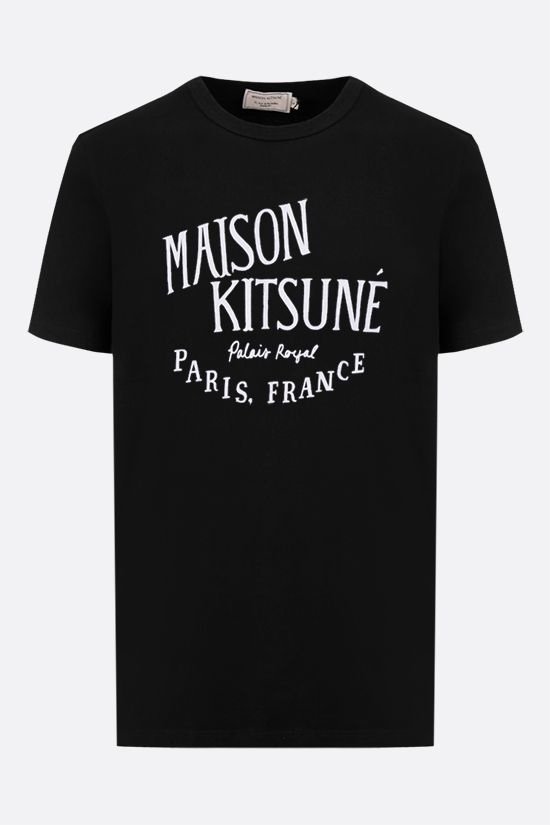 MAISON KITSUNÈ: Palais Royal cotton t-shirt Color Black_1