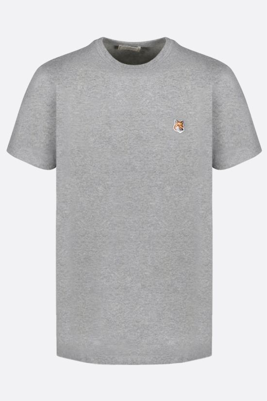 MAISON KITSUNÈ: Fox Head patch cotton t-shirt Color Grey_1