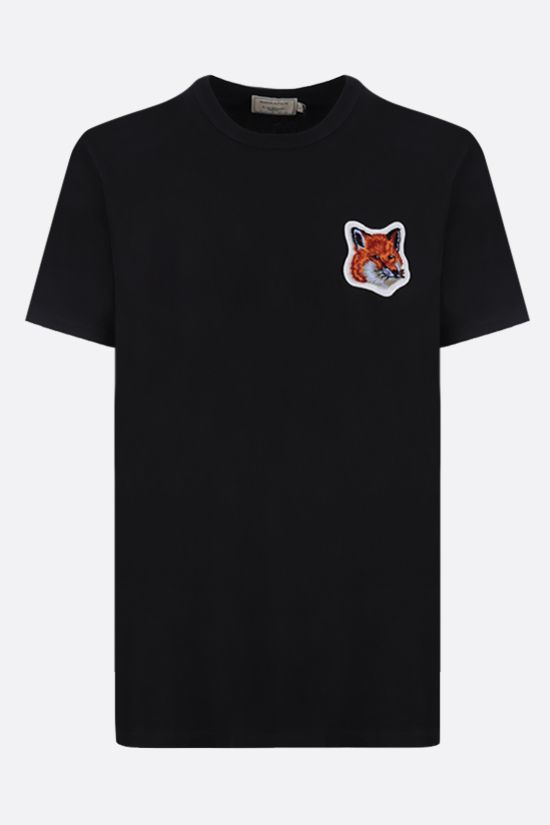 MAISON KITSUNÈ: Fox Head patch cotton t-shirt Color Black_1