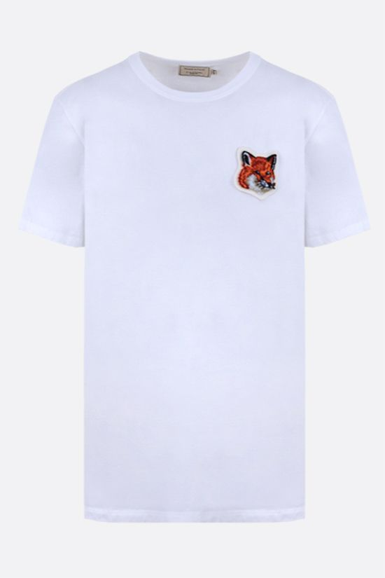 MAISON KITSUNÈ: Fox Head patch cotton t-shirt Color White_1