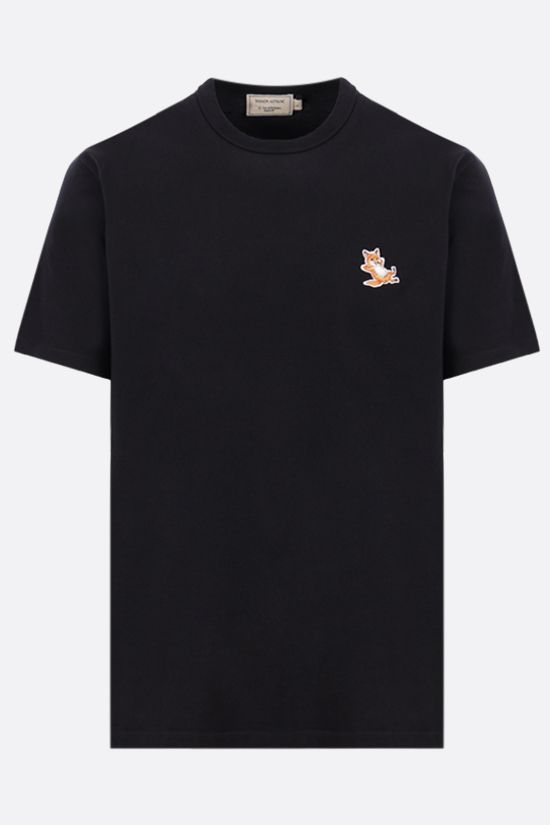 MAISON KITSUNÈ: Chillax Fox patch cotton t-shirt Color Black_1