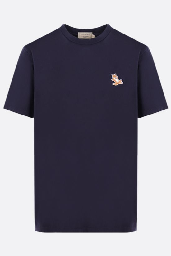 MAISON KITSUNÈ: Chillax Fox patch cotton t-shirt Color Blue_1