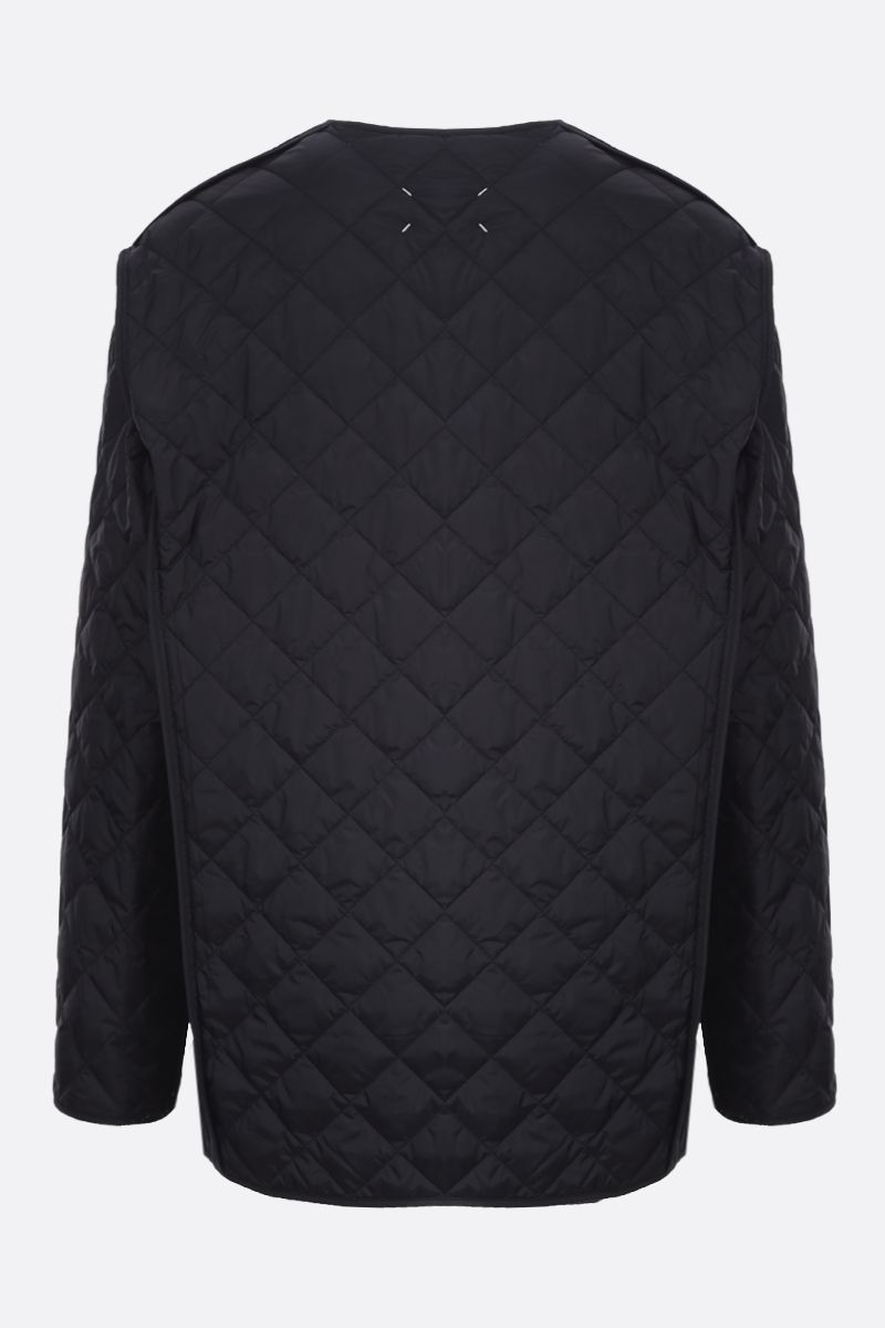 MAISON MARGIELA: nylon quilted jacket Color Black_2