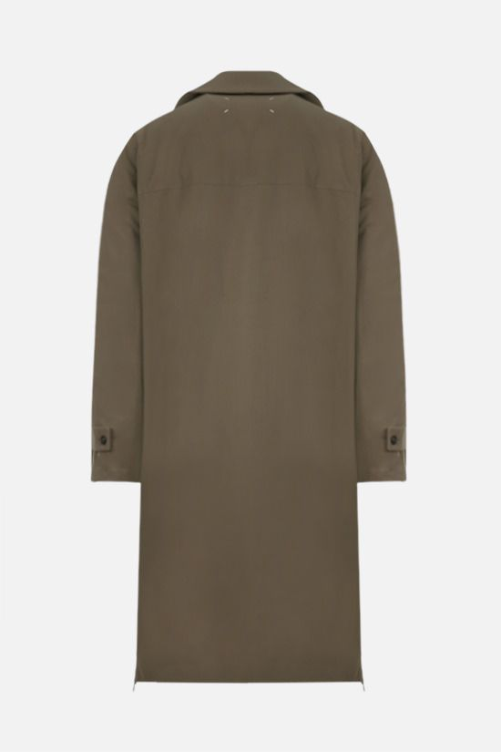 MAISON MARGIELA: oversize cotton padded overcoat Color Green_2