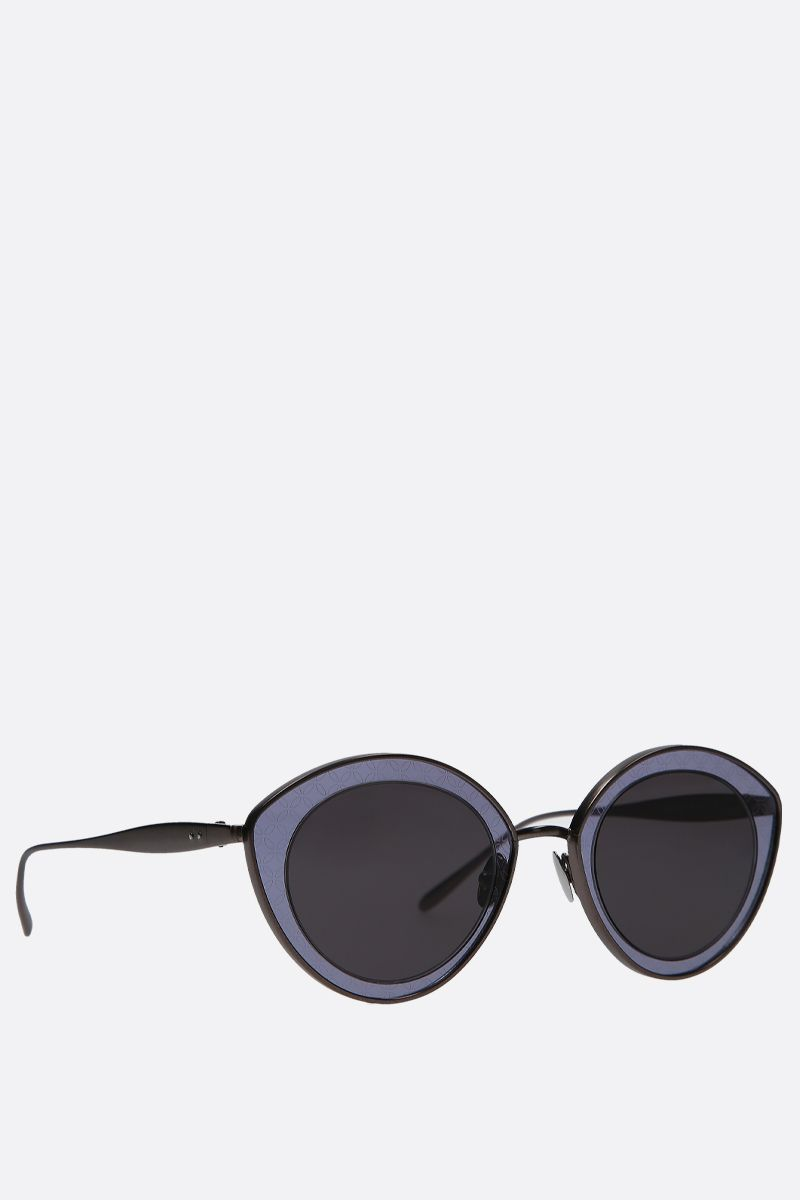 ALAIA: cat-eye metal sunglasses Color Grey_2