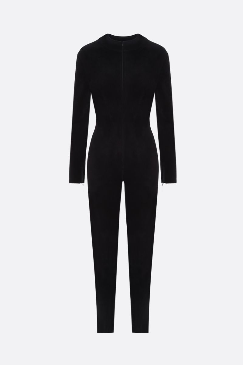 ALAIA: velour jumpsuit Color Black_1