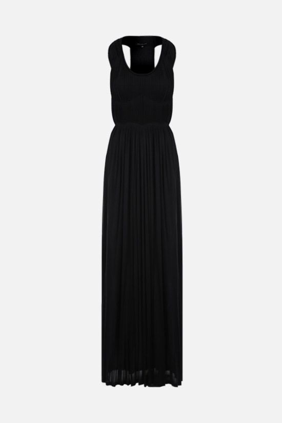 SOPHIA KOKOSALAKI: pleated jersey long dress Color Black_1