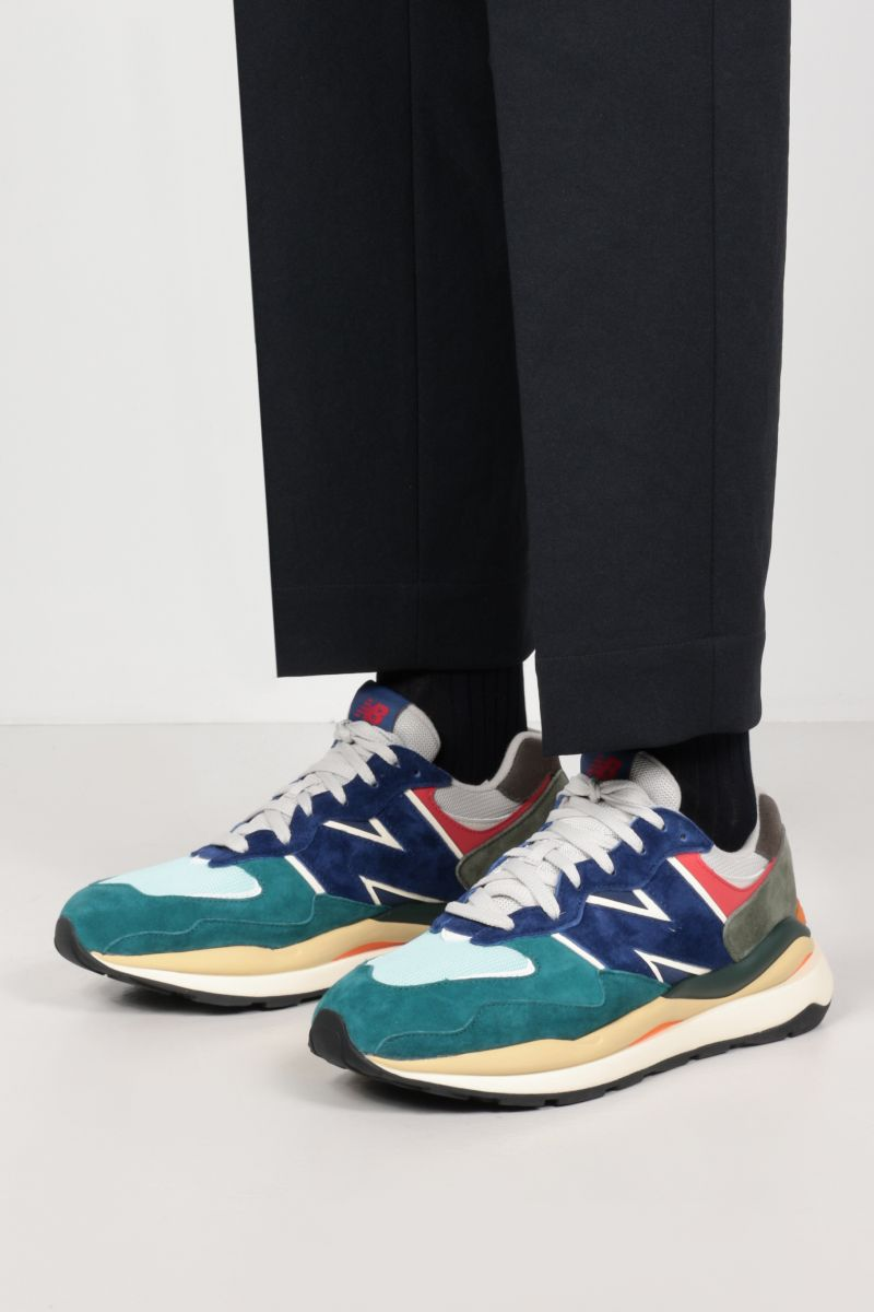 NEW BALANCE: 57/40 suede and mesh sneakers_2