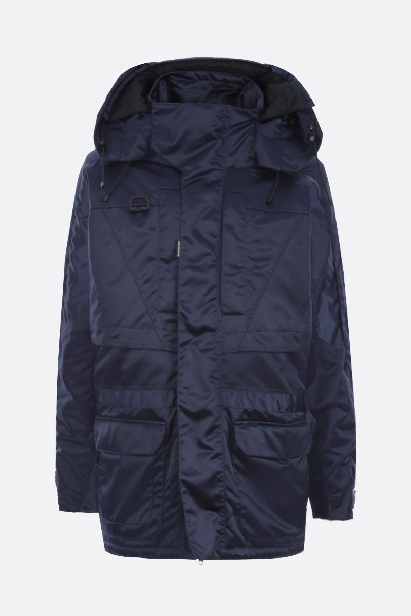 BALENCIAGA: Incognito parka in technical nylon Color Blue_1