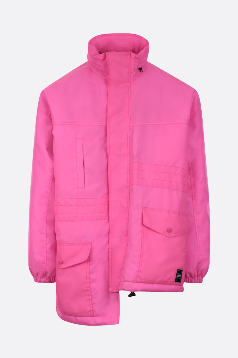 BALENCIAGA: asymmetric hem-detailed nylon padded parka_1